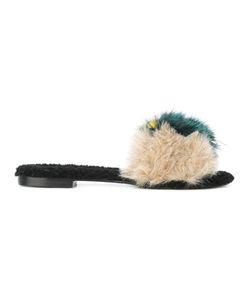 Avec Modération | Slip-On Flat Sandals 37 Artificial Fur/Calf