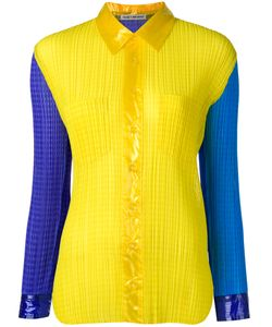 ISSEY MIYAKE VINTAGE | Colour Block Pleated Shirt Medium