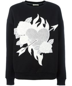 Each X Other | Heart Roses Patch Sweatshirt Medium