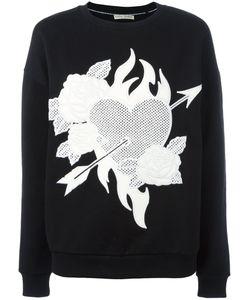 Each X Other | Heart Roses Patch Sweatshirt Medium