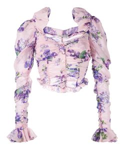 Alessandra Rich | Print Cropped Blouse