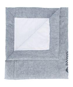 Armani Junior | Logo Embroidered Blanket