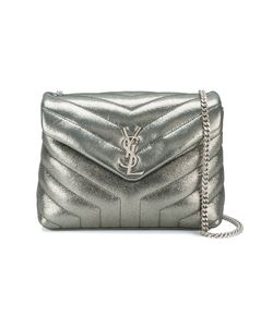 Saint Laurent | Small Loulou Monogram Shoulder Bag Metal/Leather