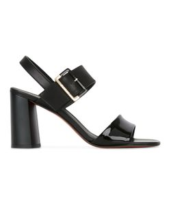 Baldinini | Buckled Sandals 37 Calf Leather/Patent Leather/Leather