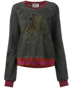 PAM & GELA | Embroidered Tiger Sweatshirt Cotton/