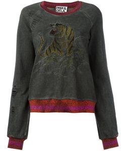 PAM & GELA | Embroide Tiger Sweatshirt Small Cotton/