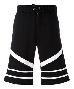 Les Hommes Urban | Striped Bermuda Shorts Size Medium