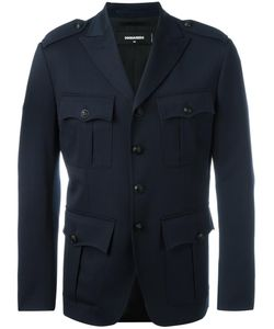 Dsquared2 | Cargo Blazer 52 Virgin Wool/Spandex/Elastane/Polyester/Cotton