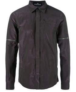 STONE ISLAND SHADOW PROJECT | Iridescent Shirt Large Cotton/Polyester