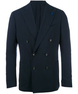 Lardini | Double-Breasted Peaked Lapels Blazer 48 Wool/Viscose/Cupro