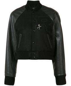 R13 | Cropped Varsity Jacket Small Viscose/Wool/Calf Hair