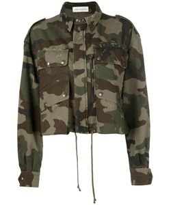 Faith Connexion | Camouflage Cropped Jacket Medium Cotton