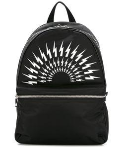 Neil Barrett | Lightning Bolt Backpack Nylon/Leather/Polyester