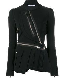 Givenchy | Asymmetric Zip-Embellished Jacket 40 Viscose/Polyamide/Spandex/Elastane/Silk