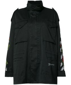 OFF-WHITE | Embroide Feature Raincoat Large Cotton