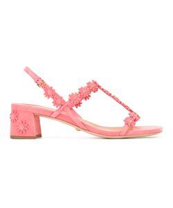 Carshoe | Car Shoe Applique T-Bar Sandals 36 Suede/Leather
