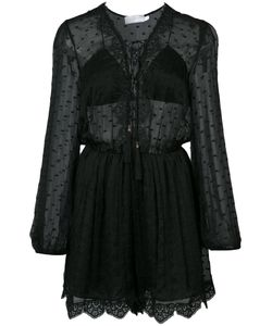 Zimmermann | Embroidered Sheer Playsuit 1