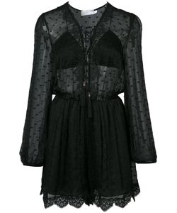 Zimmermann | Embroidered Sheer Playsuit Size 0