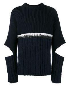 HELEN LAWRENCE | Split Sleeve Jumper Xl Lambs Wool/Mohair/Wool/Polyamide