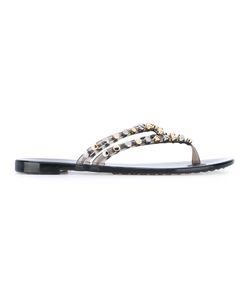 Casadei | Studded Strappy Flat Sandals