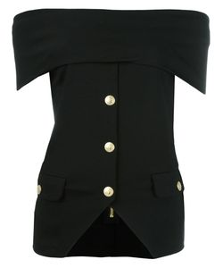 Pierre Balmain | Off-Shoulder Shirt 36 Viscose/Polyester/Spandex/Elastane