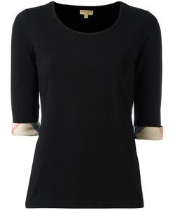 Burberry | Housecheck Detail T-Shirt Xs Cotton/Spandex/Elastane