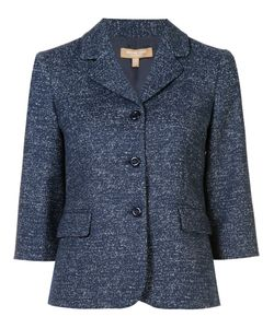 Michael Kors | Three-Button Blazer 10 Wool/Polyamide/Spandex/Elastane