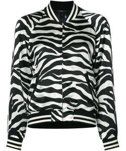 R13   Zebra Print Bomber Jacket Size Large