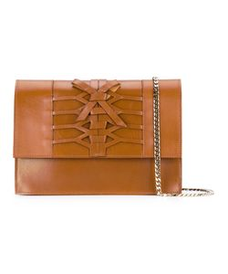 Casadei | Lattice Detail Shoulder Bag