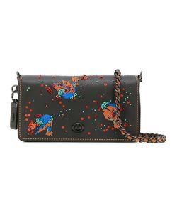 COACH | Embellished Shoulder Bag Leather/Cotton/Pvc