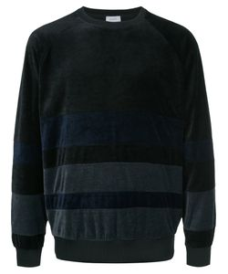 En Route | Striped Velour Sweatshirt Men