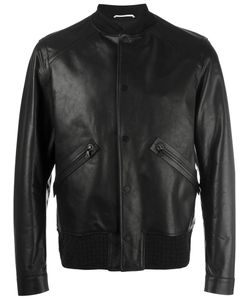 OAMC | Leather Bomber Jacket Xl Calf Leather/Polyamide/Spandex/Elastane/Viscose