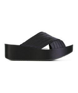 Pedro García   Pedro Garcia Platform Sandals 37 Satin/Rubber/Silk