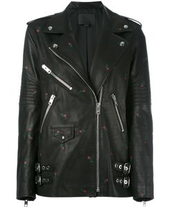 Alexander Wang | Rose Stamped Biker Jacket