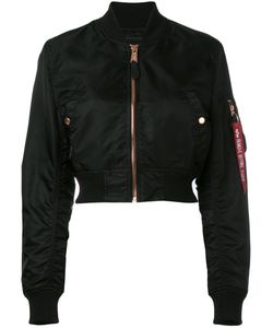 Alpha Industries | Cropped Bomber Jacket Large