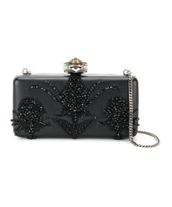 Alexander McQueen | Heart Frame Embroide Clutch Leather/Metal