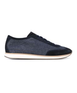 HENDERSON BARACCO | Scalloped Tongue Lace-Up Sneakers Cotton/Calf