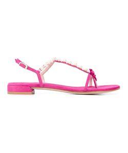 Stuart Weitzman   Pearl Embellished Sandals