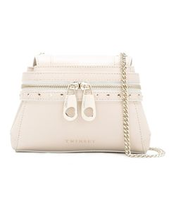 Twin-set | Front Zip Crossbody Bag Leather/Metal Other