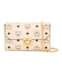MCM | Logo Print Clutch Artificial Leather