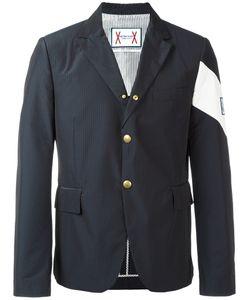 Moncler Gamme Bleu | Contrast Diagonal Stripe Blazer 5