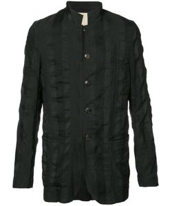 UMA WANG | Button Up Fitted Jacket Medium Linen/Flax/Polyester