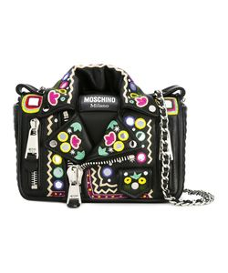 Moschino | Mirror Embroide Biker Shoulder Bag Polyester