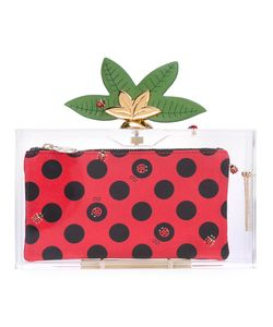Charlotte Olympia | Lucky Pandora Embellished Perspex Clutch