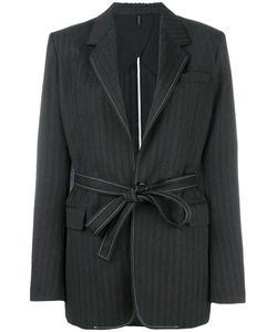 Helmut Lang | Tonal Striped Blazer 6 Wool/Polyester