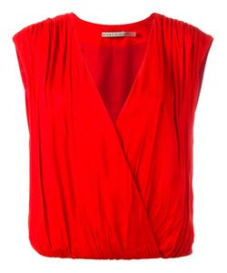 Alice + Olivia | Sleeveless Wrap Top Xs Viscose/Polyester/Spandex/Elastane