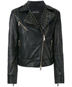 Emporio Armani   Studded Leather Jacket Size 42
