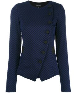 Emporio Armani | Button Up Fitted Jacket 48 Viscose/Polyamide/Spandex/Elastane/Viscose