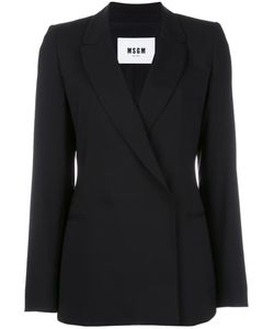 MSGM | Double Breasted Blazer 44 Virgin Wool/Spandex/Elastane/Polyester