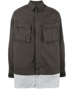 JUUN.J | Contrast Hem Military Jacket 46 Cotton